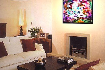 interior design art lights lighting ideas uk waving hanging in room