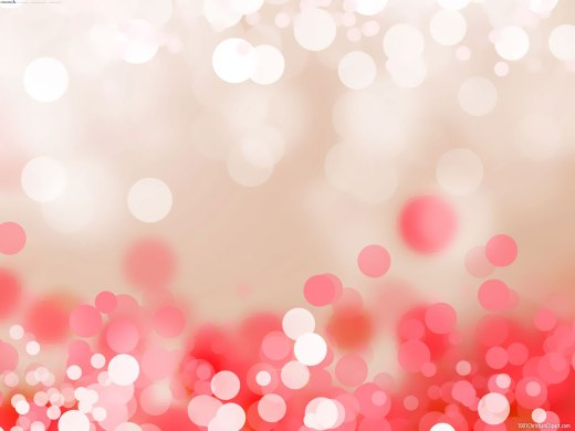 Bokeh Red Pink Background for Powerpoint