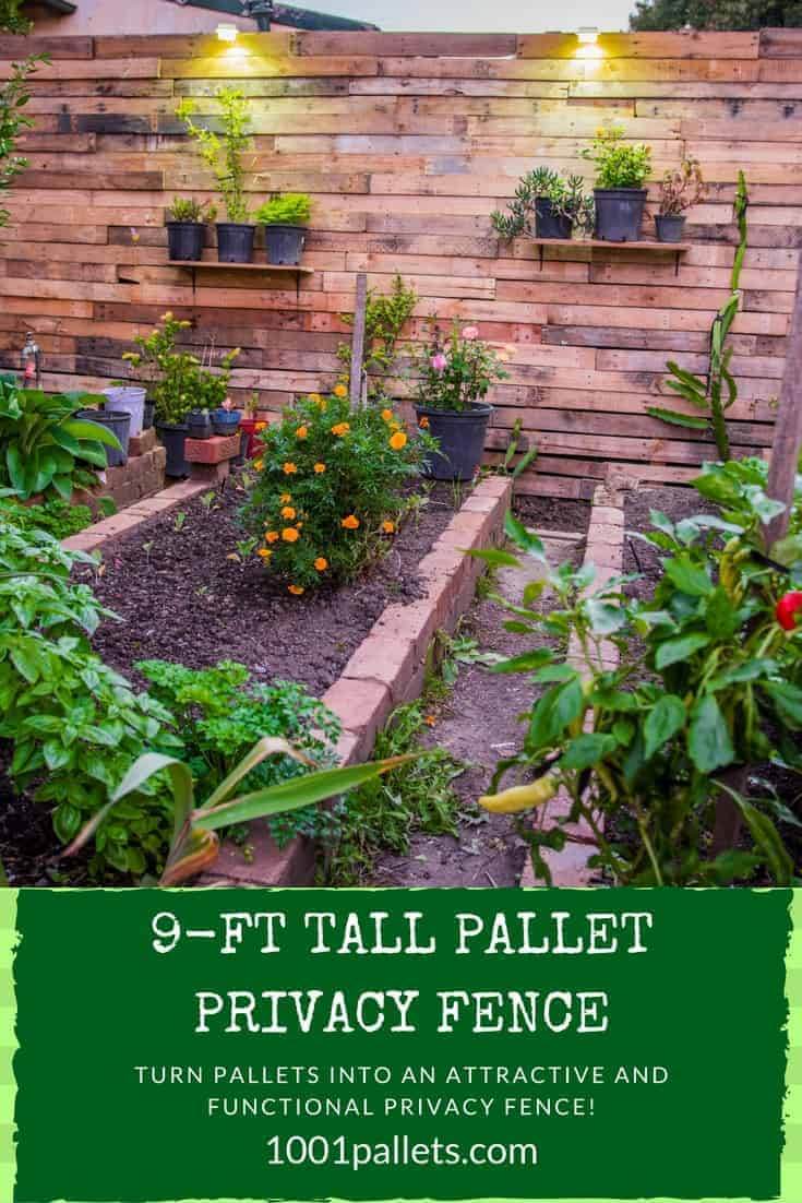 Cosmopolitan Pallet Privacy Fence Creates Garden Area Pallet Fences Your Design Build Can Save You Horizontal Wooden Pallet Garden Horizontal Pallet Garden Instructions garden Horizontal Pallet Garden