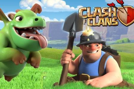 clash clans bebe dragon mineur
