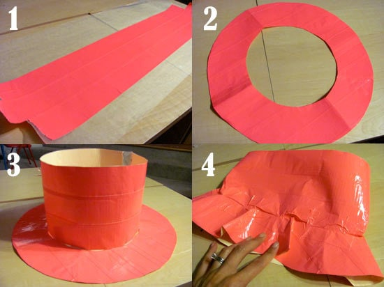 How to make a duct tape sun hat