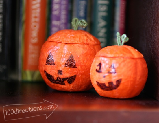 Mini Jack-Lantern happiness for Halloween