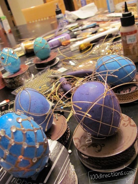 Trying a whole bunch of different ways to make faux Faberge eggs
