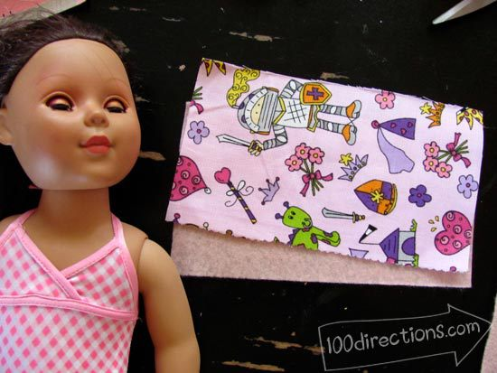 measuring fabric for doll pillow