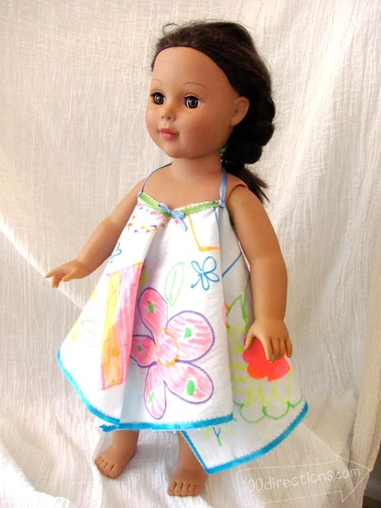 Make a doll sundress