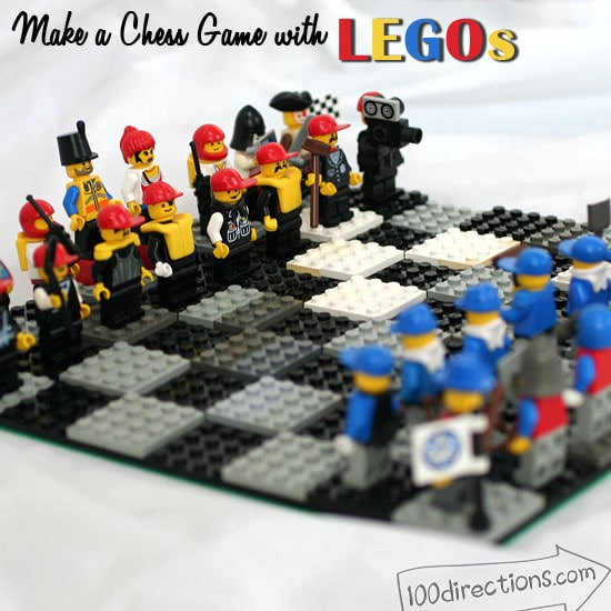 DIY LEGO chess game board and pieces