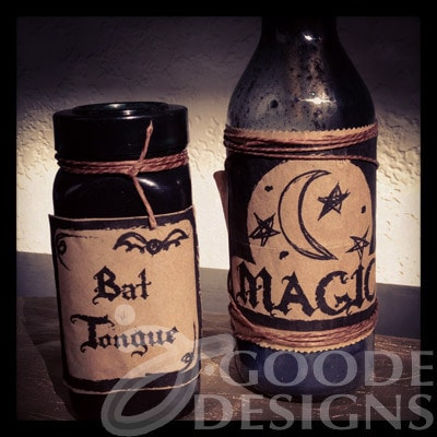 Halloween decor bottles