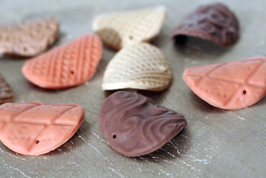 Clay chips for bracelet