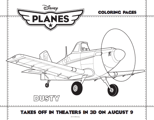 Disney's Planes Activity and coloring pages