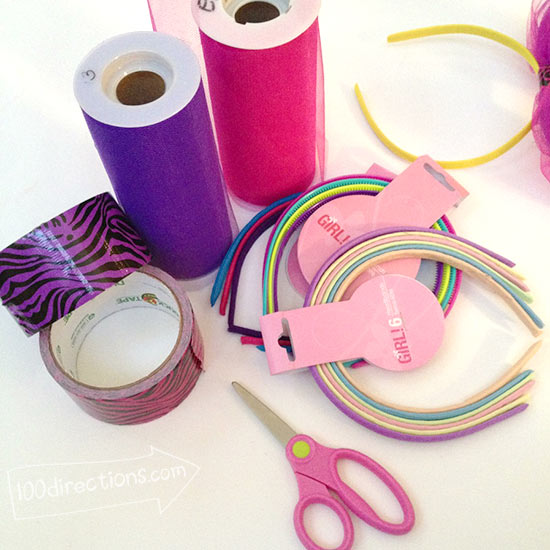 Materials to Make your own party headband