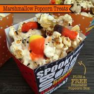 Marshmallow Popcorn Treats for Halloween