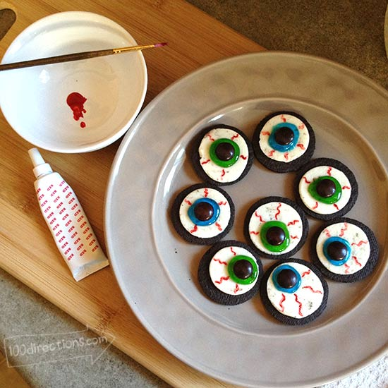Supplies you need to make OREO eyeball cookies