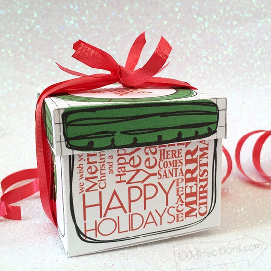 Mini mason jar gift box designed by Jen Goode