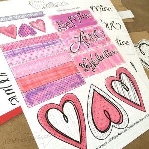 Valentine Art by Jen Goode