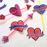 Valentines and Glow Sticks - You Make My Heart Glow Printable