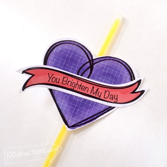 Make a glow stick Valentine