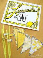 Print Your Own Lemonade Stand Decor