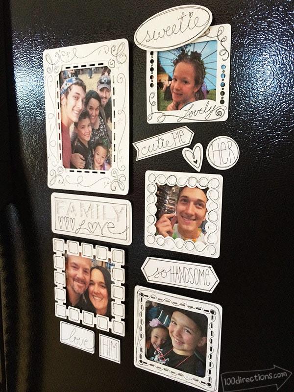 Making fridge frames with my Cricut
