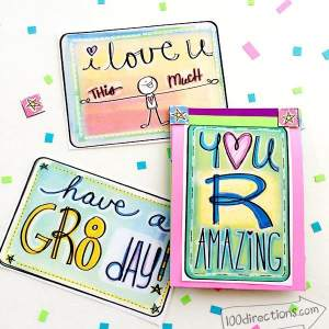 Printable lunch love notes by Jen Goode