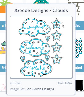 Cloud and Stars art designed by Jen Goode available in Cricut Design Space