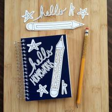 Hello Homework Back-to-school Personalizing with Cricut
