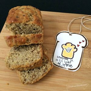 Little bread gift tag designed by Jen Goode