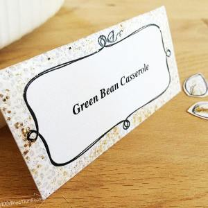 Make place cards for your dinner table