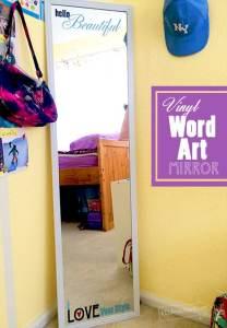 Vinyl Word Art Mirror designed by Jen Goode