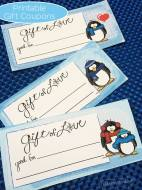 Printable Penguin Love Coupons