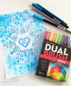 Creating watercolor art with Tombow Dual Brush Pens by Jen Goode