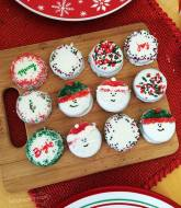 Editble Art OREO Dipped Christmas Cookies