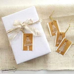 Use more fabric scraps as ribbon to decorate your gift wrapping