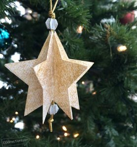 Paper Star Ornament made with Cricut Explore - designed by Jen Goode