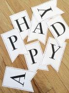 Printable Classic Alphabet Banner Pennants