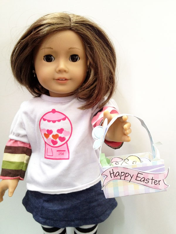 "Little Easter Basket craft for your 18"" dolls"