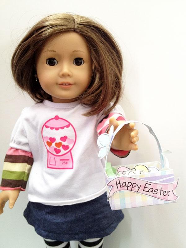 """Little Easter Basket craft for your 18"""" dolls"""