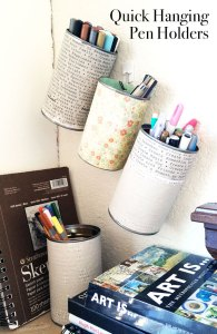 Quick Hanging Pencil Holders