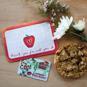 Printable Teacher Appreciation Gift Card designed by Jen Goode