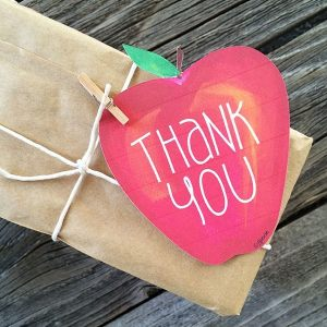 Apple Thank You gift tags designed by Jen Goode