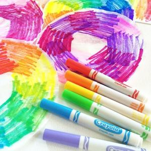 Making watercolor art with Coffee Filters