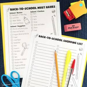 Back to School Printable List by Jen Goode