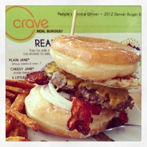 Creative Burgers at Crave Real Burgers in Colorado