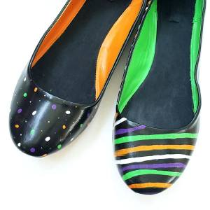 Paint Your Shoes for Halloween