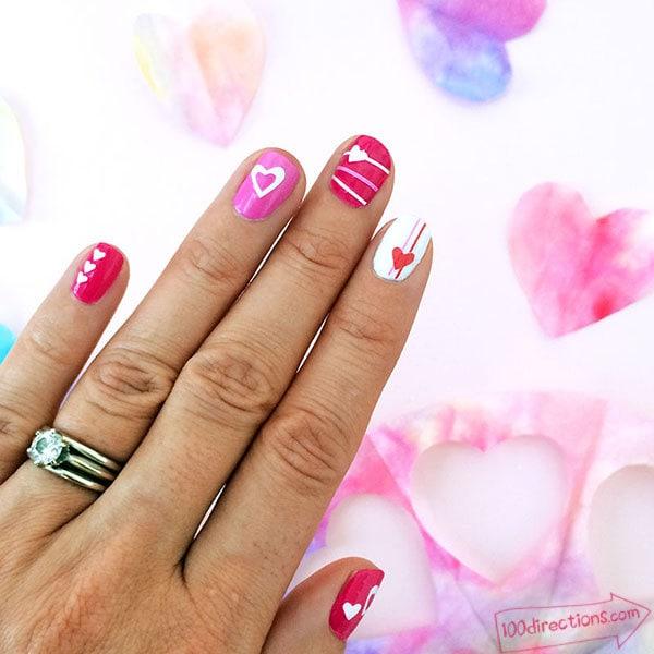 Diy love heart nail art with your cricut love heart nail art