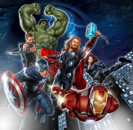 The Avengers Promotional Artwork Poster