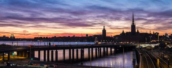 Sunset over Stockholm