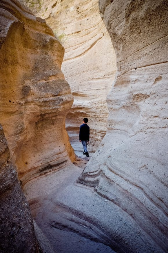 """In the Slot Canyon"". USA. New Mexico. Kasha-Katuwe Tent Rocks National Monument. 2015."