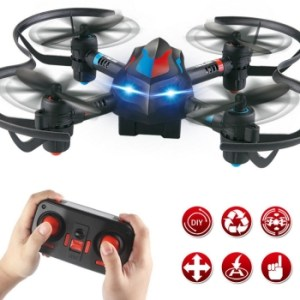 New 360 Degree Roll Flip DIY Deformation 2.4Ghz RC Aircraft Quadcopter Stunt Car