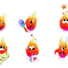 fire-cartoon-characters-free-vector
