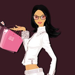 girl-illustration-with-shopping-bags-free-vector
